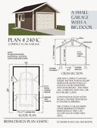 garage plans blog behm design garage plan examples plan 240 plan 240 1c compact 1 car garage 12 x 20