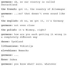 German Language Meme - germany or deutschland name