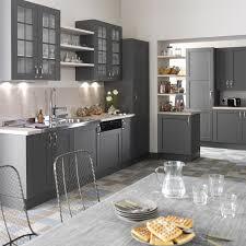 cuisine gris anthracite cuisine grise et bois clair fabuleux stunning meuble de cuisine gris