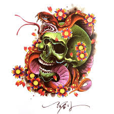 2015 newest tattoo book chinese traditional dragon skull koi
