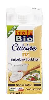 riz cuisine isola crème de riz cuisine 200ml bio planet