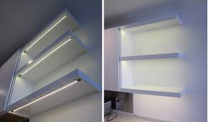 tape lighting under cabinet under the shelf customizable led strips by inspired led simply