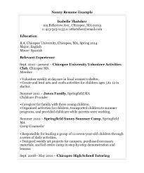 Free Nanny Resume Templates Caretaker Resume Eliolera Com