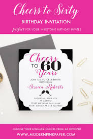 60th Birthday Invitation Card 635 Best Modern Pink Paper Images On Pinterest Birthday Party