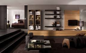 Dark Wood Bookshelves by Living Room Captivating Image Of Living Room Decoration Using Dark