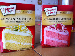 duncan hines lemon supreme et strawberry supreme produits