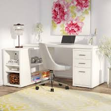 L Shaped Desk White Willa Arlo Interiors Drewes L Shaped Computer Desk Reviews Wayfair
