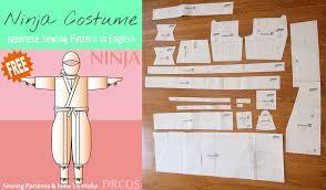 sewing pattern ninja costume free japanese sewing pattern in english ninja cosplay costume sew