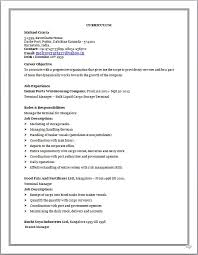 Sample Resume For Sap Abap 1 Year Of Experience by Resume Blog Co Resume Sample Of M Com Working As Terminal Manager