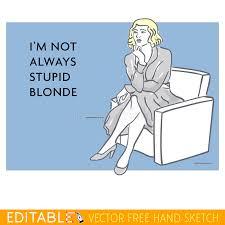 Editable Memes - young lady stupid woman editable vector meme card stock vector