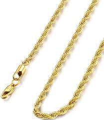 womens necklace chains images Fibo steel 4mm stainless steel mens womens necklace twist rope jpg