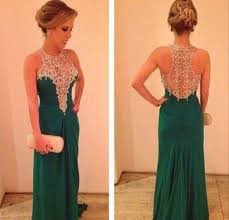 dark green ivory lace prom dresses modest long emerald green