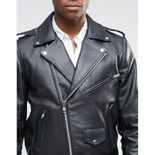 Mens Leather Biker Jacket With Back Patch For Sale Jackets For