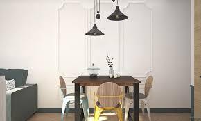 home designs 2017 small apartment dining room minimalist unpolished oak wood table