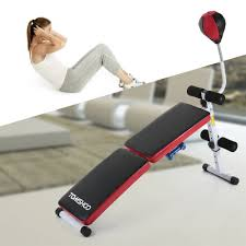 Weight Bench Ab Exercises Tomshoo Adjustable Folding Decline Ab Bench Foldable Sit Up