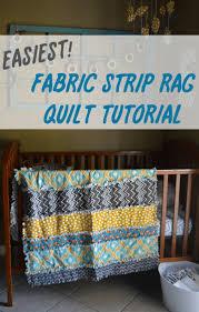 easiest rag strip crib quilt tutorial poofy cheeks