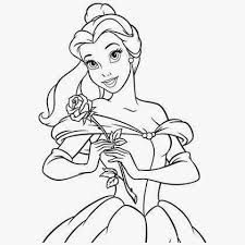 coloriage princesse belle dans sa robe de bal coloriage