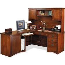 l shaped desk with hutch right return buy mission pasadena office set by martin from www mmfurniture com