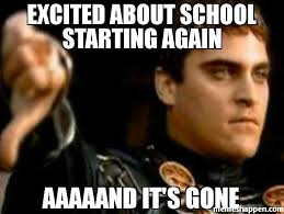 Excited Memes - excited about school starting again aaaaand it s gone meme