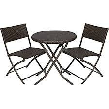 Rent To Own Patio Furniture Amazon Com Grand Patio Parma Rattan Patio Bistro Set Weather