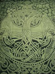 celtic tree of infinity knot druid pagan tapestry wall hanging