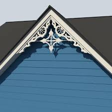 gable decoration 3 3d model cgtrader