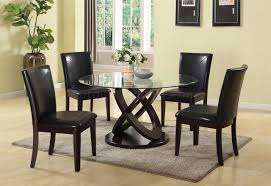 gable 71985 dining set 5pc in espresso tone by acme w options