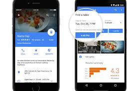 maps partners with opentable to offer restaurant