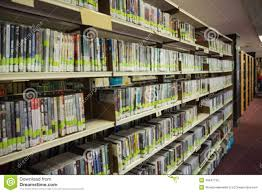 rows of bookshelves in the library stock photo image 48947730