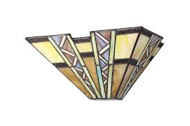 Art Deco Style Light Fixtures by Chloe Lighting Ch33226mi12 Ws1 Tiffany Style Mission 1 Light Wall