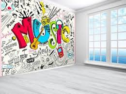 tennager music graffiti sketch doodle wallpaper photo wall mural