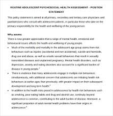 sample health assessment 6 documents in pdf