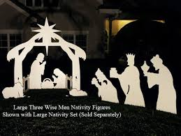 Outdoor Christmas Decorations Nativity by Large Three Wise Men Nativity Figures