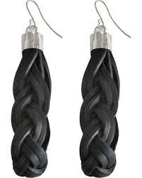 earrings brands big deal on decoss brands bandeau leather earrings