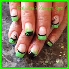 bright green with black by traiseasescape from nail art gallery