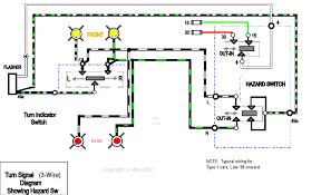 wiring diagram turn signal 3 wire showing hazard sw diagram for