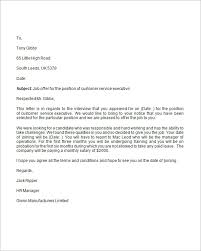 Business Letter Offer exle of offer letter city espora co