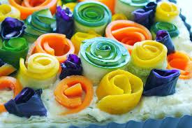 cheese tart with garden veggie roses u2013 simply beautiful