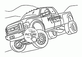 monster energy truck coloring page for kids transportation