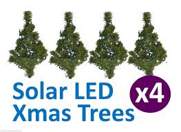 4 Christmas Tree With Lights by 2 X Set Of 4 Christmas Tree Solar Path Lights Ez Innovations