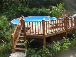 Landscaping Around Pool Landscaping Around Above Ground Pool With Deck Landscaping