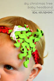 baby headband diy diy christmas tree baby headband real housemoms