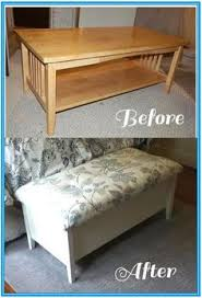 storage bench coffee table piper riley diy bench out of an old coffee table crafty projects