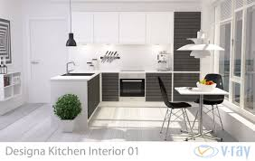 model kitchen set modern 3d modern kitchen interior 001 cgtrader