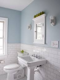 white bathroom tile ideas pictures white subway tile pedestal sink not this blue but blue and