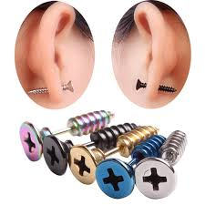 man ear rings images 10pcs 5pairs fashion earring high quality stainless steel stud jpg