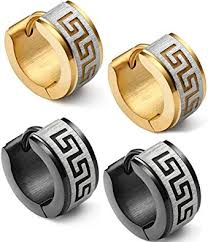mens huggie earrings jstyle jewelry stainless steel hoop earrings for men