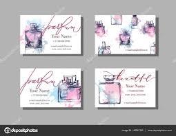 makeup artist business card vector template with beautiful