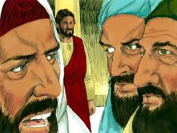 free bible images the pharisees try to trap jesus with a question
