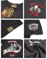 バンソン 半袖tシャツ vanson 武装戦線 tfoa crv 612 バンソン vanson